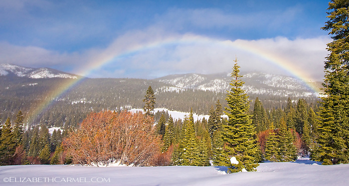Rainbow in the Snow