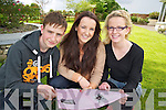 Killarney triplets John, Nancy and Brid O'Connor, Ballaugh, Killarney, who sat the Leaving Cert in the Intermediate School, Killorglin on Wednesday.........................