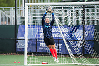 Boston, MA - Sunday May 07, 2017: Sabrina D'Angelo prior to warmups before a regular season National Women's Soccer League (NWSL) match between the Boston Breakers and the North Carolina Courage at Jordan Field.