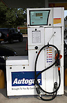 Autogas pump at petrol station garage, UK