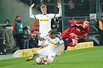 15.03.2019, Borussia Park , Moenchengladbach, GER, 1. FBL,  Borussia Moenchengladbach vs. SC Freiburg,<br />  <br /> DFL regulations prohibit any use of photographs as image sequences and/or quasi-video<br /> <br /> im Bild / picture shows: <br /> JANIK HABERER (Freiburg #19), im Zweikampf gegen  Tony Jantschke (Gladbach #24),    <br /> <br /> Foto © nordphoto / Meuter