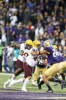 NOVEMBER 19:  ASU's Carlos Mendoza against Washington.  Washington defeated ASU 44-18 at the University of Washington in Seattle, WA