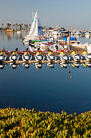 Boats in the Quivira Basin, Mission Bay, San Diego, California