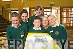Jamie McGrath, airead Moriarty, Bryan Murphy, Sara Murphy, Fionnula Keane and Rececca Mulvhill from Causeway comprehensive School, pictured at Ceiliuradh na nOg at the Brandon hotel on Thursday.
