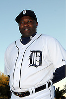 Feb 21, 2009; Lakeland, FL, USA; The Detroit Tigers coach Lloyd McClendon (12) during photoday at Tigertown. Mandatory Credit: Tomasso De Rosa/ Four Seam Images