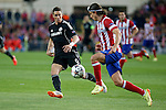 Atletico de Madrid´s Filipe Luis (R) and  Chelsea´s Fernando Torres during Champions League semifinal first leg soccer match between Atletico de Madrid and Chelsea, at the Vicente Calderon stadium, in Madrid, Spain, April 22, 2014. (ALTERPHOTOS/Victor Blanco)
