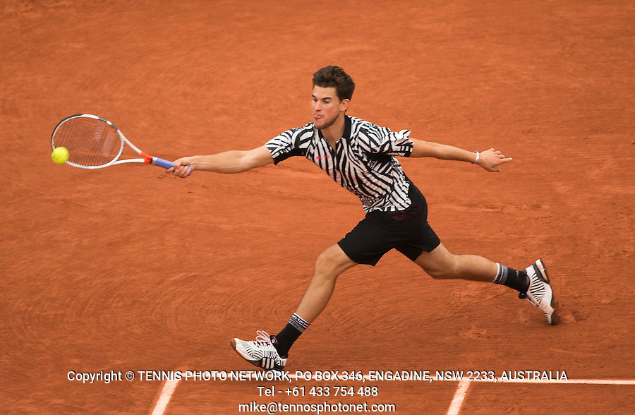 DOMINIC THIEM (AUT)<br /> <br /> TENNIS - FRENCH OPEN - ROLAND GARROS - ATP - WTA - ITF - GRAND SLAM - CHAMPIONSHIPS - PARIS - FRANCE - 2016  <br /> <br /> <br /> <br /> &copy; TENNIS PHOTO NETWORK