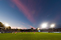 A general view of the Recreation Ground at half-time. European Rugby Champions Cup match, between Bath Rugby and Benetton Rugby on October 14, 2017 at the Recreation Ground in Bath, England. Photo by: Patrick Khachfe / Onside Images