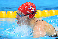 PICTURE BY ALEX BROADWAY /SWPIX.COM - 2012 London Paralympic Games - Day Five - Swimming, Aquatic Centre, Olympic Park, London, England - 03/09/12 - Natalie Jones of Great Britain competes in the Women's 200m Individual Medley SM6 Heats.