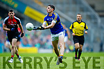Paul Geaney Kerry in action against Brendan Harrison Mayo in the All Ireland Semi Final in Croke Park on Sunday.