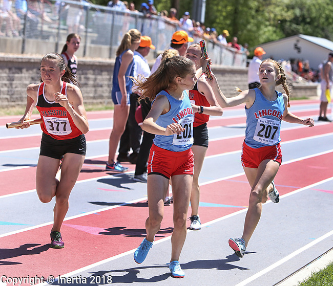 STURGIS, SD: MAY 25:  201 not found     during the 2018 South Dakota State High School Track Meet at Woodle Field in Sturgis, S.D.  (Photo by Dick Carlson/Inertia)