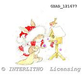 Addy, CHRISTMAS ANIMALS, paintings, GBAD121677,#xa# stickers Weihnachten, Navidad, illustrations, pinturas