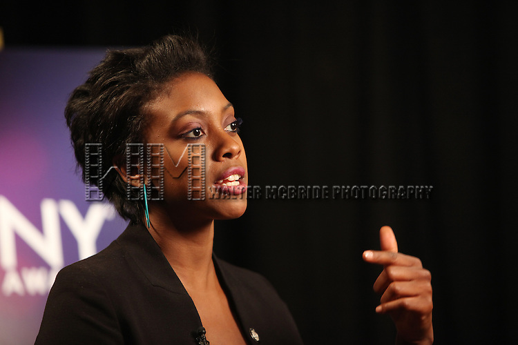 Condola Rashad.Behind the Scene at the 2012 Tony Award-Meet The Nominees Press Reception at Millennium Broadway Hotel on May 2, 2012 in New York City.