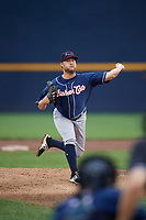New Hampshire Fisher Cats relief pitcher Kirby Snead (10) delivers a pitch during a game against the Trenton Thunder on August 19, 2018 at ARM & HAMMER Park in Trenton, New Jersey.  New Hampshire defeated Trenton 12-1.  (Mike Janes/Four Seam Images)