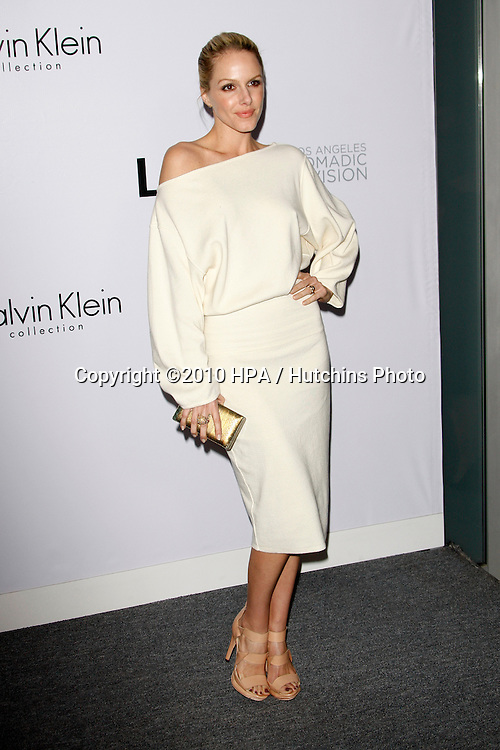 Monet Mazur.arriving at the Calvin Klein collection and LOS ANGELES NOMADIC DIVISION Present a Celebration of L.A. ARTS MONTH.Calvin Klein Store.Los Angeles, CA.January 28, 2010.©2010 HPA / Hutchins Photo....