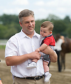 Bruce and Nicholas Brown celebrate Freud's Notebook's win in the Lake Luzerne.