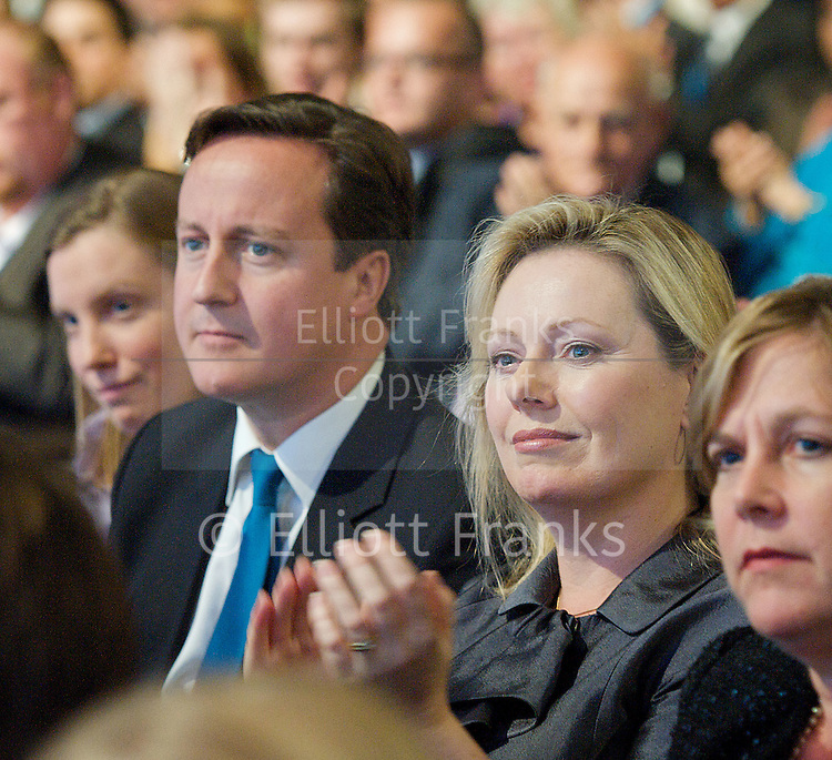 Conservative Party Annual Conference, Manchester, Great Britain <br /> 2nd - 5th October 2011 <br /> <br /> British Prime Minister <br /> The Rt Hon David Cameron MP<br /> Member of Parliament<br /> for Witney<br /> &amp; 	Ffion Hague<br /> Photograph by Elliott Franks