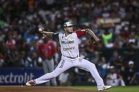 Héctor Velázquez pitcher de Mexico, durante el  partido final de la Serie del Caribe en el nuevo Estadio de  los Tomateros en Culiacan, Mexico, Martes  7 Feb 2017. Foto: AP/Luis Gutierrez