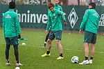 17.01.2020, Trainingsgelaende am wohninvest WESERSTADION,, Bremen, GER, 1.FBL, Werder Bremen Training ,<br /> <br /> <br />  im Bild<br /> <br /> Yuya Osako (Werder Bremen #08)<br /> Nuri Sahin (Werder Bremen #17)<br /> <br /> <br /> Foto © nordphoto / Kokenge