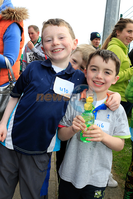 Aaron and Ray McManus at the 5k fun run in St. Fechins GAA grounds in Beaulieu.<br /> Picture: www.newsfile.ie