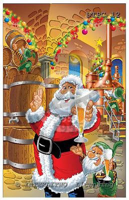 Eberle, Comics, CHRISTMAS SANTA, SNOWMAN, paintings, DTPC12,#X# Weihnachten, Navidad, illustrations, pinturas
