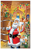 Eberle, Comics, CHRISTMAS SANTA, SNOWMAN, paintings, DTPC12,#X# Weihnachten, Navidad, illustrations, pinturas