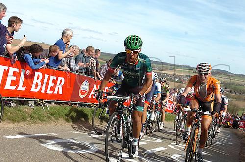 14.04.2013 Limburg province, Holland. Yukiya Arashiro during the race from Maastricht to Valkenburg.
