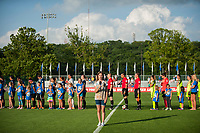 Kansas City, MO - Saturday June 17, 2017:  during a regular season National Women's Soccer League (NWSL) match between FC Kansas City and the Seattle Reign FC at Children's Mercy Victory Field.