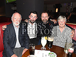 Cormac Stafford celebrating his 21st birthday in Brú with dad Eamon Stafford and grandparents Oliver and Lena Stafford. Photo:Colin Bell/pressphotos.ie