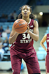 31 January 2013: Florida State's Chelsea Davis (34). The University of North Carolina Tar Heels played the Florida State University Seminoles at Carmichael Arena in Chapel Hill, North Carolina in an NCAA Division I Women's Basketball game. UNC won the game 72-62.