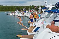 15-16 August 2008  Formula Weekend, Charlevoix, Michigan.Rafting on Lake Charlevoix...©F.Peirce Williams 2008.F. Peirce Williams .photography.P.O.Box 455 Eaton, OH 45320.p: 317.358.7326  e: fpwp@mac.com.