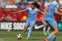Bridgeview, IL - Saturday May 27, 2017: Christen Press during a regular season National Women's Soccer League (NWSL) match between the Chicago Red Stars and the North Carolina Courage at Toyota Park. The Red Stars won 3-2.