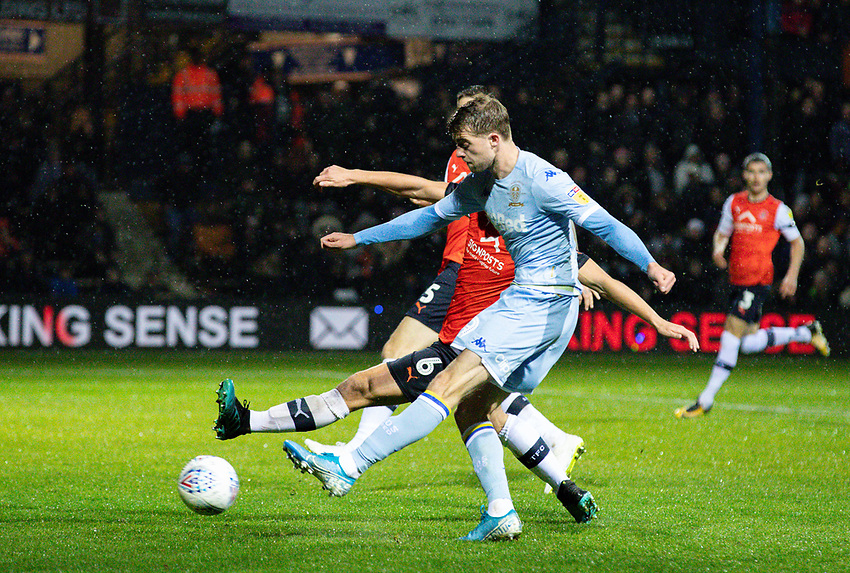 Leeds United's Patrick Bamford scores the opening goal <br /> <br /> Photographer Alex Dodd/CameraSport<br /> <br /> The EFL Sky Bet Championship - 191123 Luton Town v Leeds United - Saturday 23rd November 2019 - Kenilworth Road - Luton<br /> <br /> World Copyright © 2019 CameraSport. All rights reserved. 43 Linden Ave. Countesthorpe. Leicester. England. LE8 5PG - Tel: +44 (0) 116 277 4147 - admin@camerasport.com - www.camerasport.com