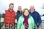Glin Coursing Day, Sunday 06-10-2013.  Pictured left to right: Fintan Kennedy, Mike Bale, Nicola Casey and Dave Casey all from Limerick.