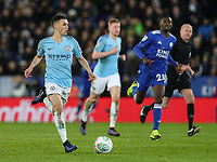 Manchester City's Phil Foden breaks<br /> <br /> Photographer Andrew Kearns/CameraSport<br /> <br /> English League Cup - Carabao Cup Quarter Final - Leicester City v Manchester City - Tuesday 18th December 2018 - King Power Stadium - Leicester<br />  <br /> World Copyright &copy; 2018 CameraSport. All rights reserved. 43 Linden Ave. Countesthorpe. Leicester. England. LE8 5PG - Tel: +44 (0) 116 277 4147 - admin@camerasport.com - www.camerasport.com