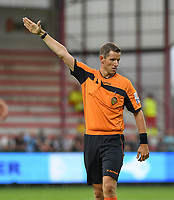 KORTRIJK , BELGIUM - AUGUST 03 : referee Jan Boterberg pictured during the Jupiler Pro League match day 2 between Kv Kortrijk and Sporting Charleroi on August 03 , 2019 in Kortrijk , Belgium . ( Photo by David Catry / Isosport )