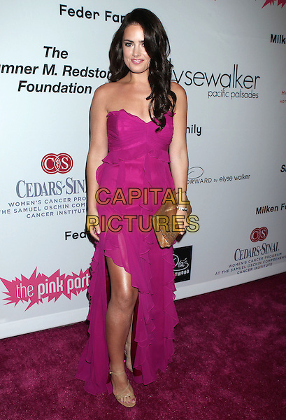 Beau Dunn.2011 Pink Party held at Drai's Hollywood, Hollywood, California, USA..September 10th, 2011.full length dress strapless slit split gold clutch bag.CAP/ADM/RE.©Russ Elliot/AdMedia/Capital Pictures.