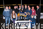 Wonderful win<br /> -----------------<br /> 'Clares Wonder' won the Elco Services sponsored Derby final worth 5000 euro last Friday night at Kingdom Greyhound Stadium, Tralee.Pictured were Conor Scahill,David Simpson,Paddy Hinez,Paul ScullyRachael,Tim&amp;Graham Holland,Kieran Casey&amp;Declan Dowling (KGS) Denis Mason,Paudie McCarthy,Joe Cahill and Alan Murphy.