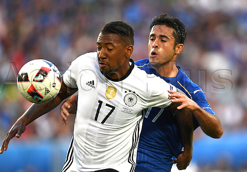 02.07.2016. Bordeaux, France.  Germany's Jerome Boateng and Italy's Eder Citadin Martins during the UEFA EURO 2016 quarter final  match between Germany and Italy at the Stade de Bordeaux in Bordeaux, France, 02 July 2016. Ph