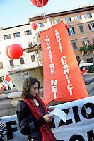 Roma, 29 Settembre 2010.Piazza Farnese.Cgil in piazza contro i tagli per il lavoro..Rome, 29 September 2010.Piazza Farnese.Cgil protest against the cuts for the job