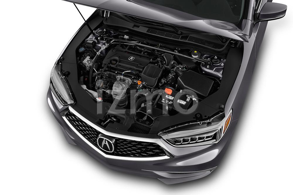 Car stock 2018 Acura TLX AUTO 4 Door Sedan engine high angle detail view