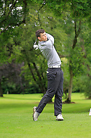 Ryan McKinstry (Cairndhu) on the 3rd tee during round 1 of The Mullingar Scratch Cup in Mullingar Golf Club on Sunday 3rd August 2014.<br /> Picture:  Thos Caffrey / www.golffile.ie