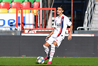20191022 – OOSTENDE , BELGIUM : PSG's Kays Ruiz-Atil pictured during a soccer game between Club Brugge KV and Paris Saint-Germain ( PSG )  on the third matchday of the UEFA Youth League – Champions League season 2019-2020 , thuesday  22 th October 2019 at the Versluys Arena in Oostende  , Belgium  .  PHOTO SPORTPIX.BE | DAVID CATRY