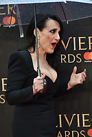Lesley Joseph<br /> The Olivier Awards 2018 , arrivals at The Royal Albert Hall, London, UK -on April 08, 2018.<br /> CAP/PL<br /> &copy;Phil Loftus/Capital Pictures