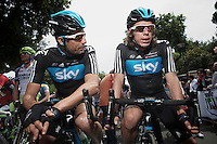 Giro d'Italia stage 13.Savano-Cervere: 121km..Juan Antonio Flecha & Rigoberto Uran before the race