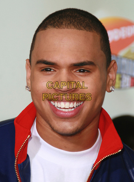 CHRIS BROWN.20th Annual Nickelodeon Kids' Choice Awards held at UCLA's Pauley Pavilion, Westwood, California, USA..March 31s, 2007.headshot portrait .CAP/ADM/CH.©Charles Harris/AdMedia/Capital Pictures