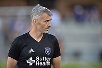 San Jose, CA - Monday July 10, 2017: Alex Covelo prior to a U.S. Open Cup quarterfinal match between the San Jose Earthquakes and the Los Angeles Galaxy at Avaya Stadium.