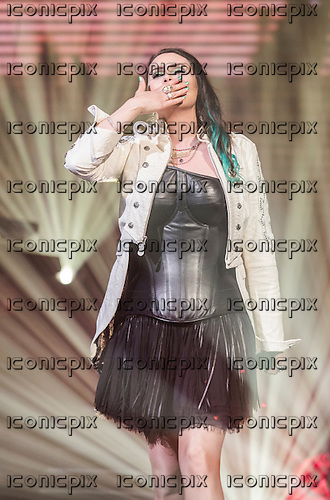 Within Temptation - vocalist Sharon Den Adel - performing live at Le Zenith in Paris<br />  France - 25 Apr 2014<br /> .  Photo credit: Yannick Ribeaut/Dalle/IconicPix