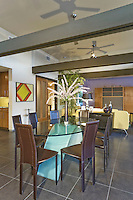 Stock photo of dining area in Palm Springs modern home