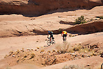 Mountain bikers in the Utah desert